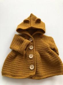 Detské oblečenie - Detský horčicový kabátik / Baby mustard coat - 10103977_