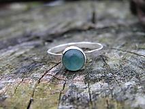 Prstene - Strieborny prsteň Ag 925 Fluorit - 10103419_