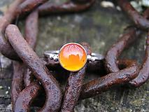 Prstene - Strieborny prsteň Ag 925 Karneol - 10103448_