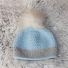 Detské čiapky - zimná čiapka - 10102389_