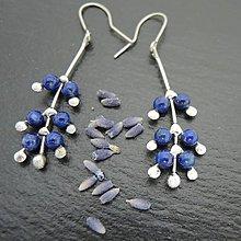 Náušnice - Levanduľa - náušnice modré - 10100510_