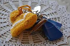 Kľúčenky - Kľúčenka-zimná čiapka - 10099965_