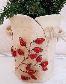 Nádoby - Vareškovník  či kvetináčik so šípkami podľa vášho uváženia. - 10099316_