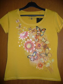 Tričká - Tričko s motýľmi - 10103560_