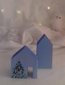 Dekorácie - Modrá polárna dedinka - 10099536_