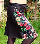 Sukne - Sukně květinová - 10100681_