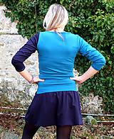Šaty - DREAMS COME TRUE ... mix dress (zelené) - 10103584_