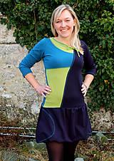 Šaty - DREAMS COME TRUE ... mix dress (zelené) - 10103587_