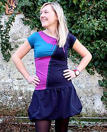 Šaty - DREAMS COME TRUE... mix dress (PURPUR) - 10103474_