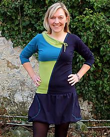 Šaty - DREAMS COME TRUE ... mix dress (zelené) - 10103585_