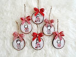 Dekorácie - Vianočné ozdoby červené - 10101700_