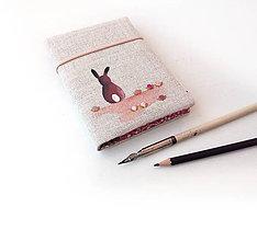 Papiernictvo - Zápisník Zajačik s kvietkami - A6 - 10099515_