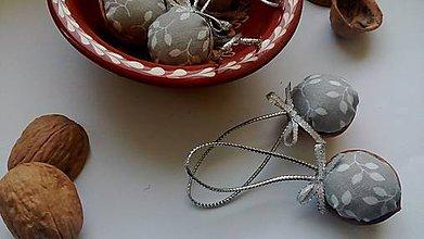 Dekorácie - Oriešky šedé - 10101438_