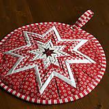 Úžitkový textil - vianočná hviezda - 10100205_