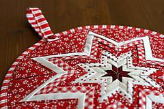 Úžitkový textil - vianočná hviezda - 10100206_