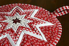 Úžitkový textil - vianočná hviezda - 10100208_