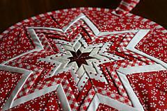 Úžitkový textil - vianočná hviezda - 10100209_