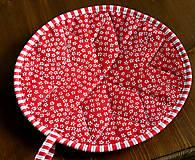 Úžitkový textil - vianočná hviezda - 10100210_