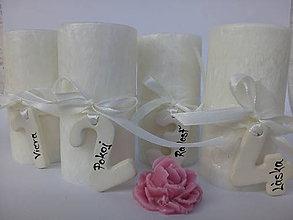 Svietidlá a sviečky - adventné sviečky s číslami / biele - 10103267_