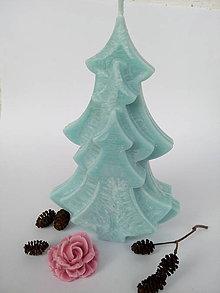 Svietidlá a sviečky - Sviečka stromček tyrkysová - 10103296_