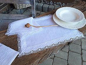 Úžitkový textil - Ľanové prestieranie Linen Ecstasy White - 10102494_