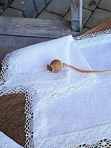 Úžitkový textil - Ľanový obrúsok Linen Ecstasy White - 10102556_