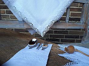 Úžitkový textil - Ľanový obrus Linen Ecstasy White - 10102644_