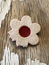 Odznaky/Brošne - Linecký kvietok - brošňa (veľká nakusnutá) - 10099705_