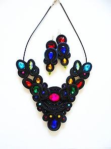 Sady šperkov - čiernofarebná - 10104523_