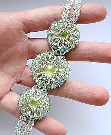 6d35a88b7 Náramky - JOIA luxusný náramok 'Lime' so Swarovski® kryštálmi / Ag 925 -