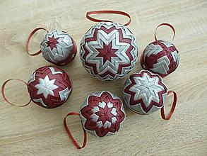Dekorácie - Sada vianočných gúľ - 10108165_