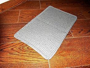Úžitkový textil - Koberček šedý /90x60 cm - 10106584_