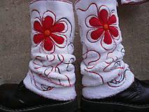 Iné doplnky - Návleky na nohy s červenou - 10106315_