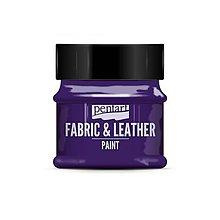 Farby-laky - Farba na textil a kožu, 50 ml, Pentart (fialová) - 10105727_