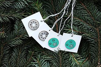 Papiernictvo - Menovky na darčeky - vianočné - 10108309_