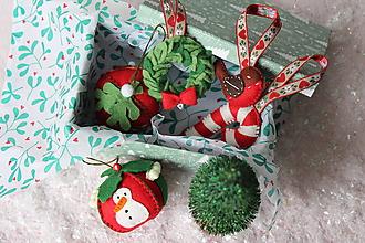 Dekorácie - Set ozdôb Klasické vianoce - 10105733_