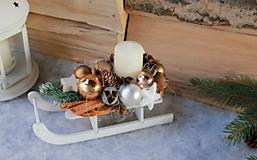 Dekorácie - sánky_ vianočná dekorácia - 10105389_