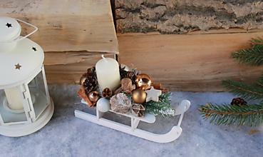 Dekorácie - sánky_ vianočná dekorácia - 10105399_