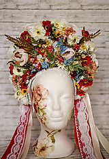 Ozdoby do vlasov - Svadobná folk parta - 10108015_