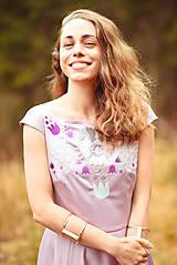 Šaty - Lila šaty Poľana - 10104847_
