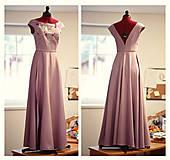 Šaty - Lila šaty Poľana - 10104851_