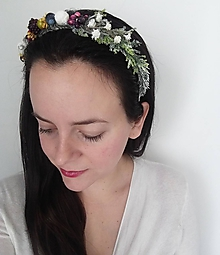 Ozdoby do vlasov - Čelenka ''V zimnom lese'' - 10105685_