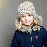 Detské čiapky - detská čiapka NA ZIMU lišajníková - 10107449_
