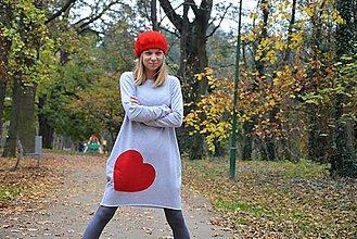 Detské oblečenie - Šaty/tunika Taloux Heart - 10105396_