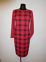 Šaty - Červené s černou kostkou - 10104177_