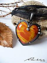 """Náhrdelníky - Cínový šperk """"Oheň v srdci"""" - 10106425_"""