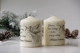 Svietidlá a sviečky - Duo vianočných sviečok IV. - 10107016_