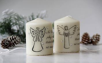 Svietidlá a sviečky - Duo vianočných sviečok V. - 10107022_