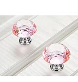 Komponenty - Úchytka krištáľ-ružová - 10104234_