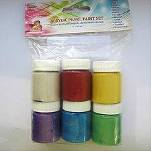 Farby-laky - Súprava akrylových perleťových farieb - 10104811_